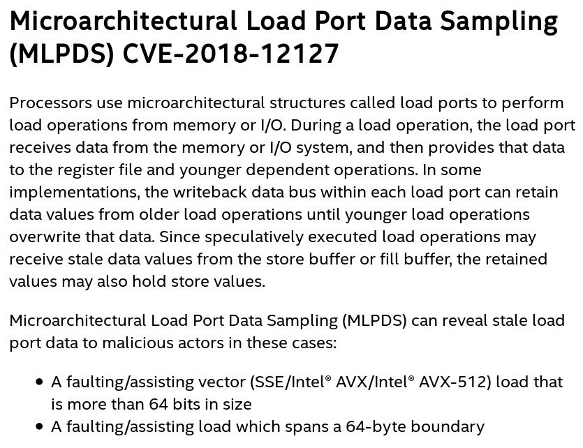 MLPDS Intel Description