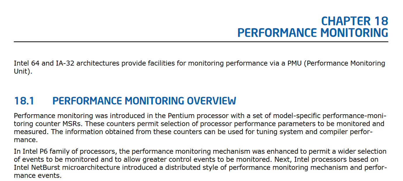 Performance Counter Manual